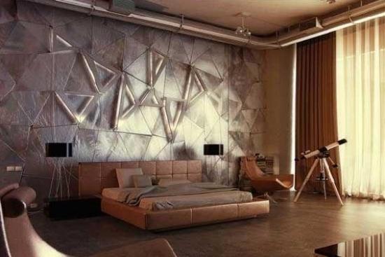 绚丽卧室背景墙展风采 让床头不再单调