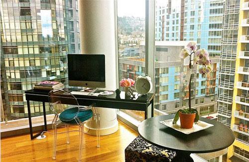 8图书房玻璃巧设计 大开窗户好赏风景