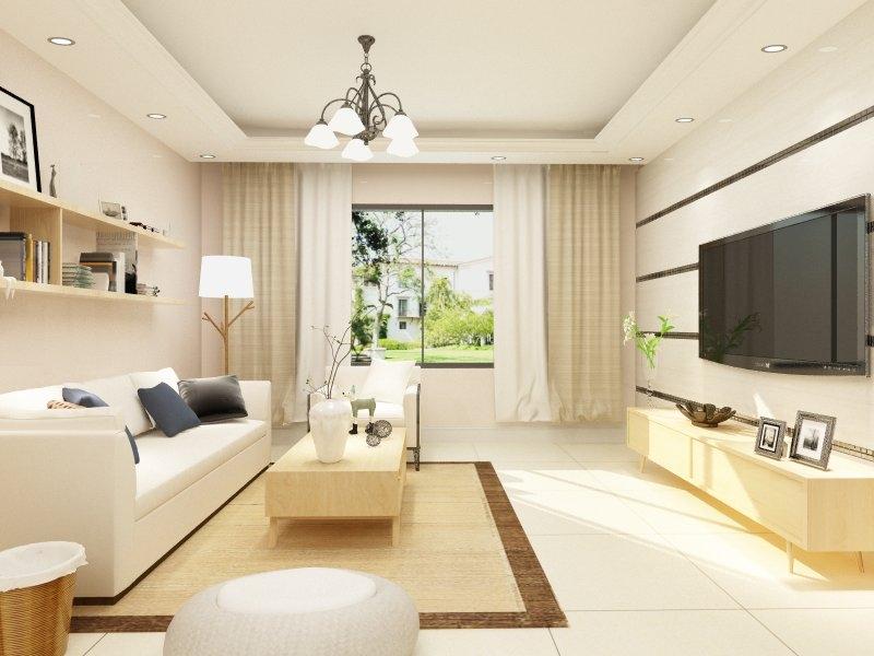 设计说明: 户型采光比较好,入户门对墙角,对客厅窗户,因此做玄关隔断