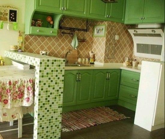 60平米单身公寓 炫出绿色乡村田园风格