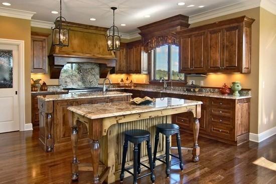 欧式古典风格建筑设计图赏     这间厨房的装修搭配与上一间图片