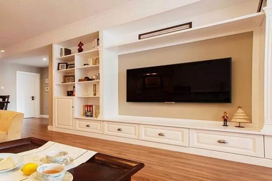 现代简约风格 收纳型电视背景墙设计