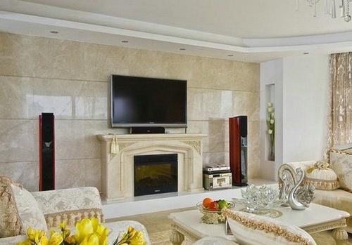精彩欧式客厅电视背景墙 让客厅眼前一亮