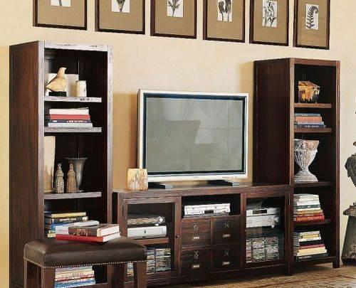 电视柜按结构一般分为地柜式,组合式,板架结构等几种类型,按材质可