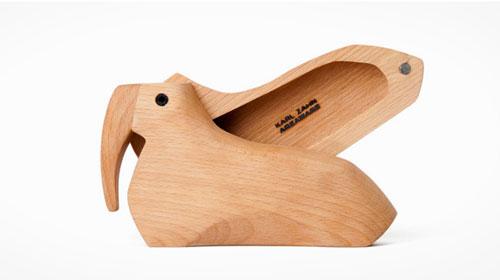 创意设计图:动物造型的原木盒子
