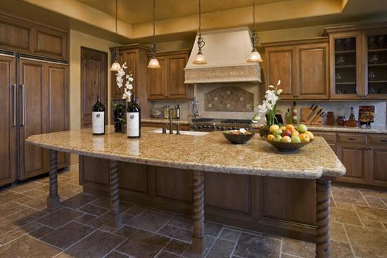 宜尔厨房装修实木整体橱柜定做新古典橡木欧式