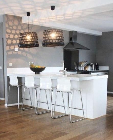 这类全开放式的厨房空间在国外多见图片