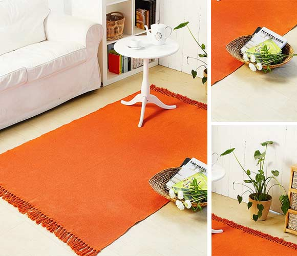 手织锦素色地毯