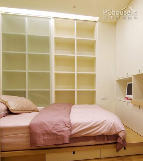 儿童房床&柜设计:床和衣柜是紧挨着摆放