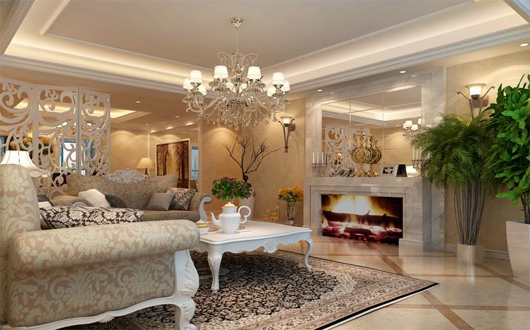 三室两厅欧式风格装修设计案例效果