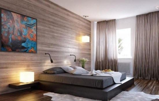 效果图以其完美的功能划分刻画出高品质,卧室中加入设计了由长形电视图片