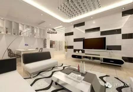 2016现代新款客厅背景墙效果图