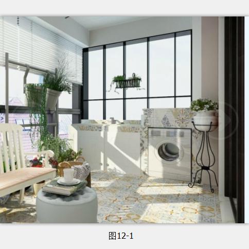阳台洗衣台的巧妙做法