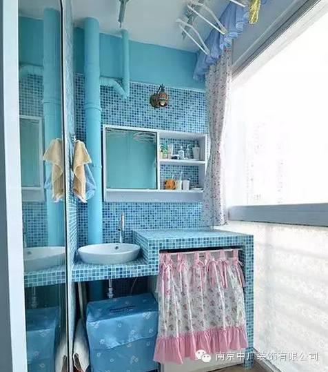 阳台水管装饰效果图图片