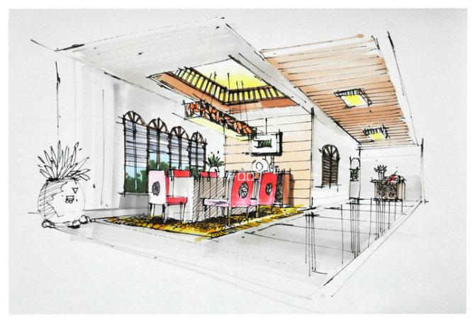 实力干货 厨房餐厅手绘效果图怎么绘制