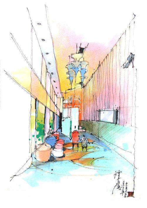 厨房餐厅手绘效果图怎么绘制