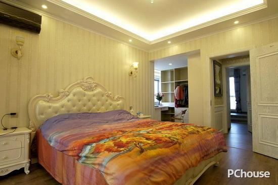 简欧卧室床头背景墙效果图   简欧卧室床头背景墙效果图7   欧式的图片