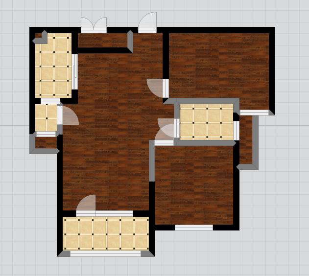 房屋的原始结构还原到平面设计稿中,通过设计师的绘制,轻松实现3d立体