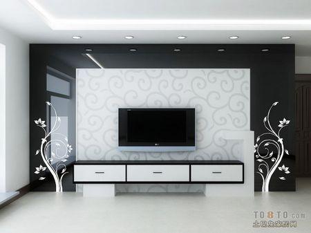 不同色调电视背景墙装修效果图