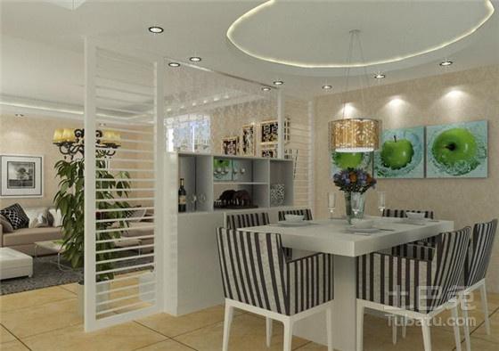酒柜隔断就安排在客厅和餐厅的中间,这样的设计很实用,只要转身就能取图片
