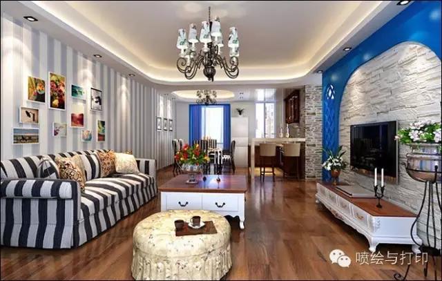 木纹地板砖室内装修效果图欣赏图片
