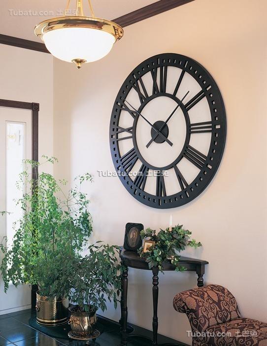 客厅挂钟相关风水注意事项和图片