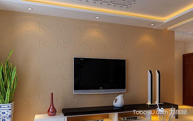 电视墙硅藻泥装修效果图 符合您的现代居家