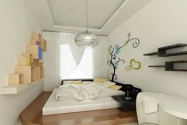 卧室地台创意装修效果图案例