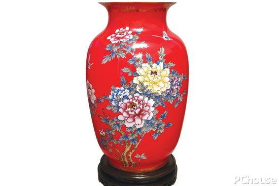 花瓶简笔画带树枝