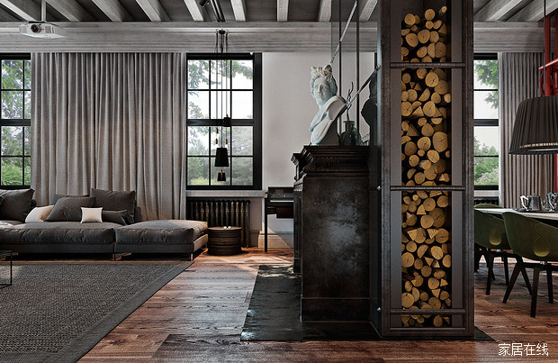 loft工业风装修效果图 增强家居年代感