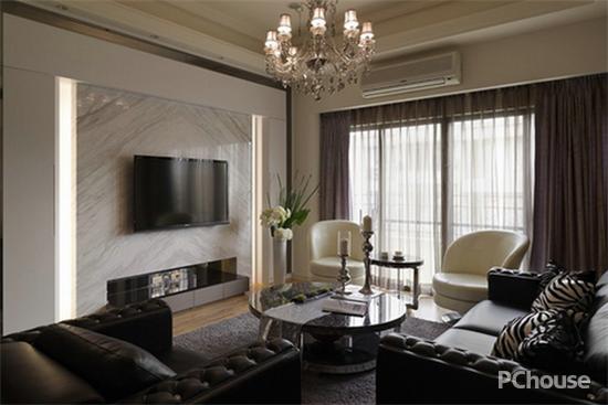 大户型客厅电视背景墙效果图欣赏