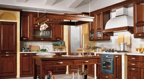 中岛式橱柜装修厨房效果图欣赏
