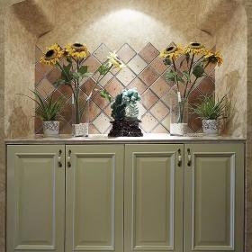 田园美式玄关玄关柜设计案例展示