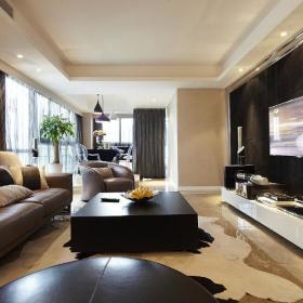 现代简约客厅电视墙效果图