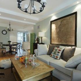 美式复古客厅设计案例展示