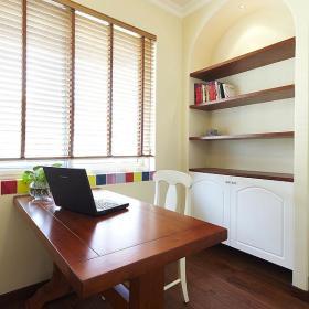 地中海书房收纳装修图
