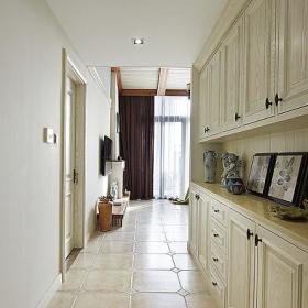 美式混搭复古玄关玄关柜装修图