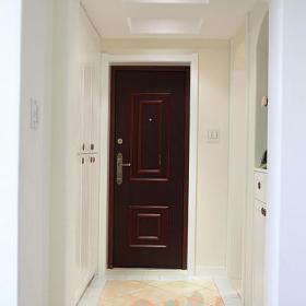 现代简约田园清新玄关玄关柜装修效果展示