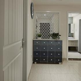 现代简约韩式混搭清新玄关玄关柜设计案例展示