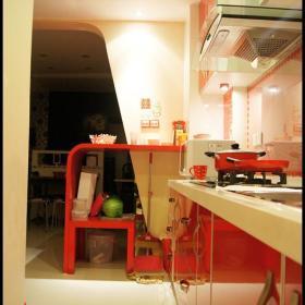 现代简约韩式混搭厨房图片