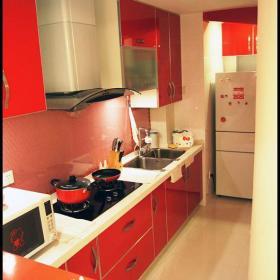 现代简约韩式混搭厨房效果图
