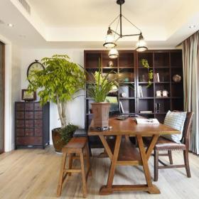 现代简约美式混搭书房设计案例