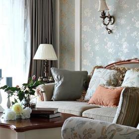 新古典美式复古客厅效果图