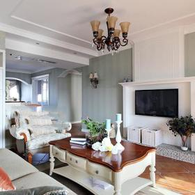 新古典美式复古客厅设计案例展示