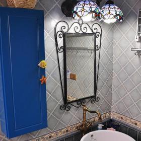 田园地中海新古典复古卫生间设计案例展示