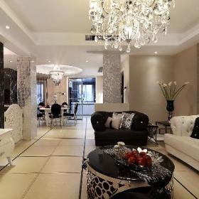 新古典美式精致后现代客厅设计方案