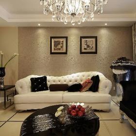 新古典美式精致后现代客厅装修效果展示