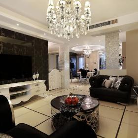 新古典美式精致后现代客厅装修图