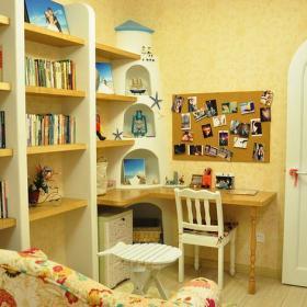 地中海混搭书房设计图