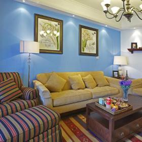 地中海美式混搭客厅装修案例